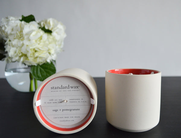 Sage + Pomegranate Soy Candle