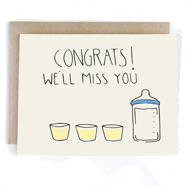 Pregnant Miss You Greeting Card