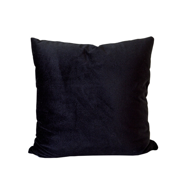 Black Velvet Accent Pillow