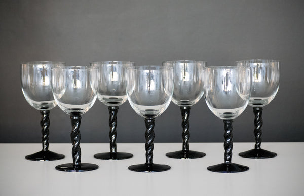 Vintage White Wine Glasses (Set of 7)
