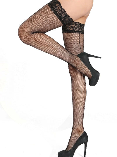 Over The Knee Lace Trim Socks