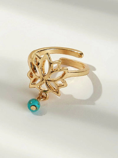 Hollow Lotus Design Toe Ring