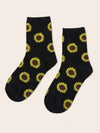 Sunflower Pattern Socks
