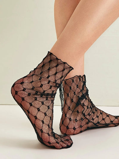 Geo Pattern Mesh Socks