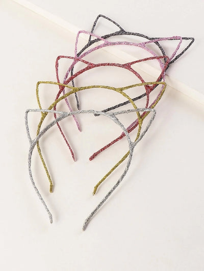 5pc Cat Ear Hair Hoop