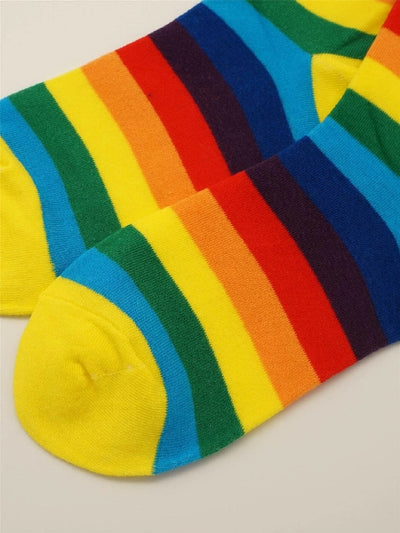 Rainbow Stripe Crew Socks