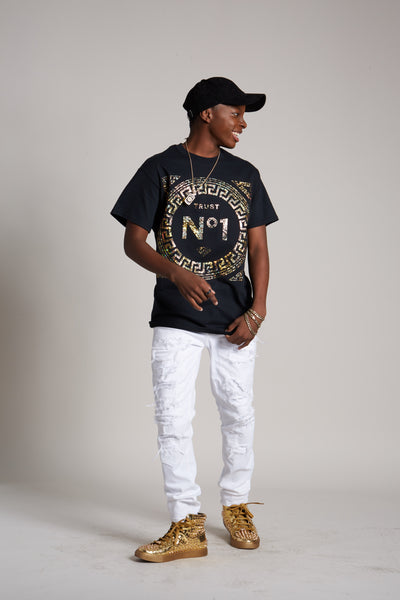 Trust No1 Greek Holographic Foil Tee