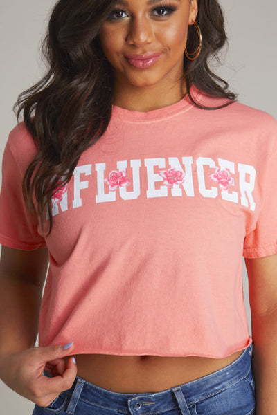 Influencer Floral Short Sleeve Crop Tee