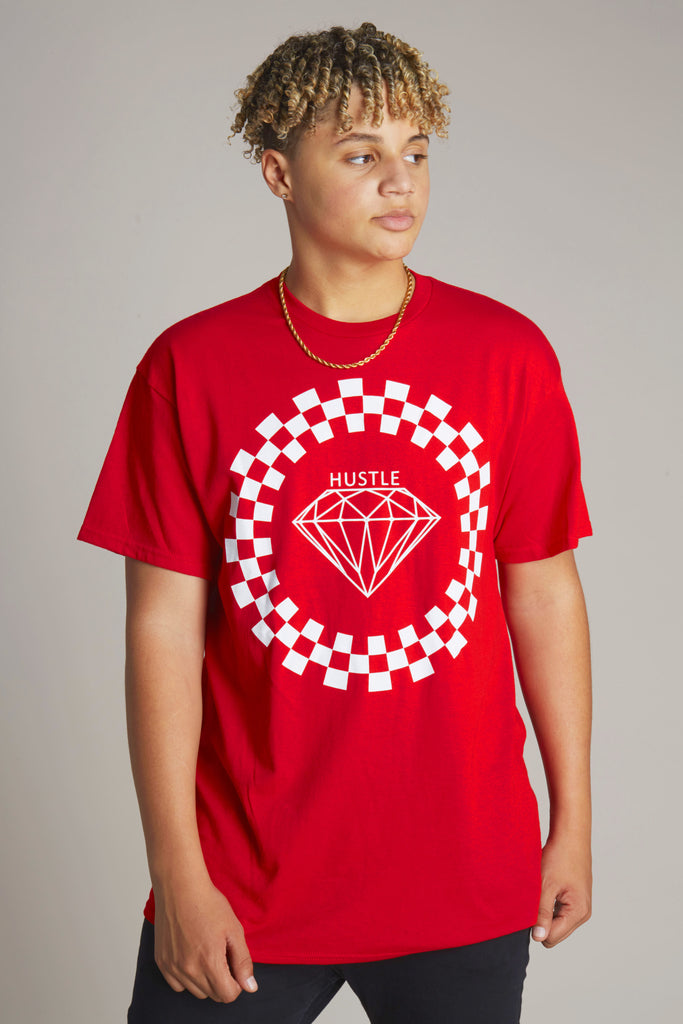 Hustle Diamond Checker Short Sleeve Tee