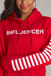 Influencer Stripes Hoodie