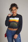 Legendary Sunset Road Long Sleeve Crop Tee