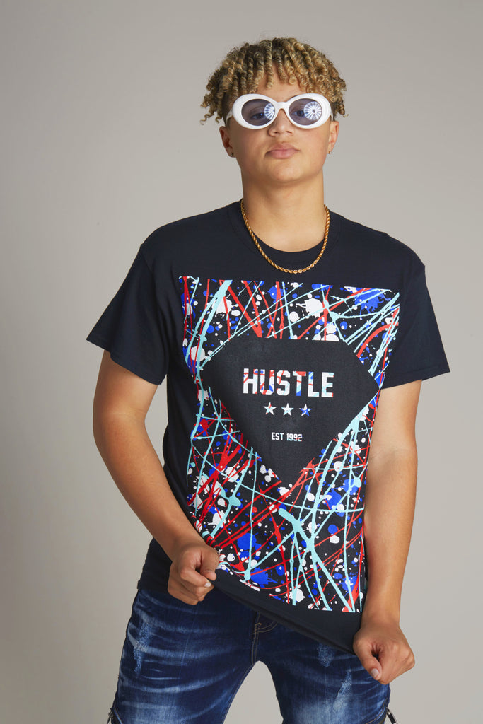 Hustle Splatter Diamond Tee