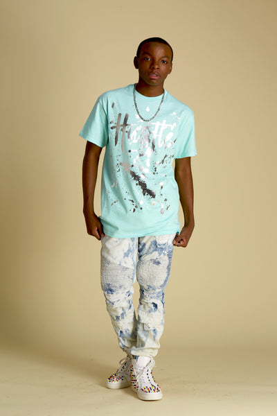 Hustle Splatter Foil Short Sleeve Tee