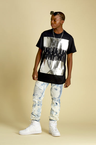 Savage Drip Foil Short Sleeve Tee