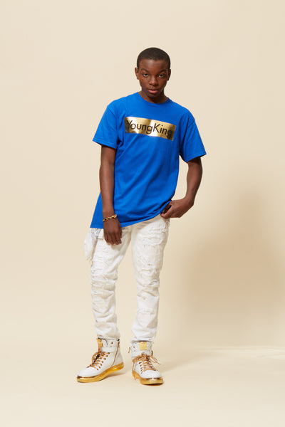 Young King Foil Box Short Sleeve Tee