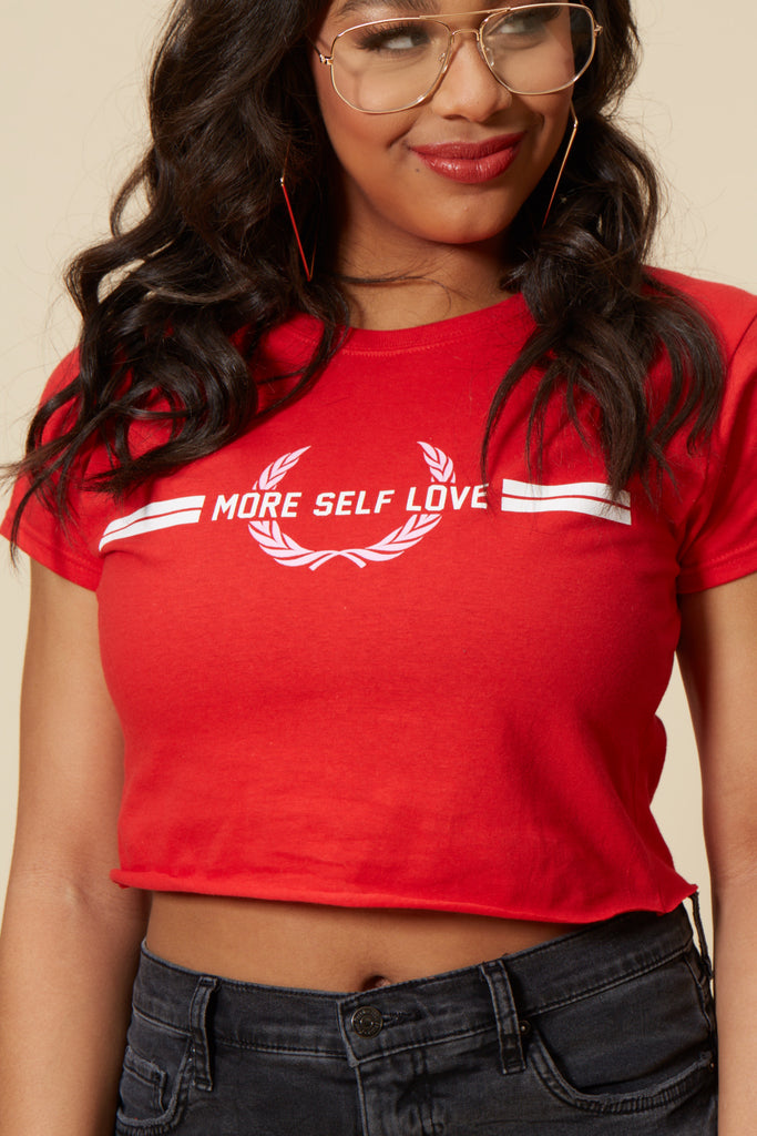 More Self Love Stripes Short Sleeve Tee