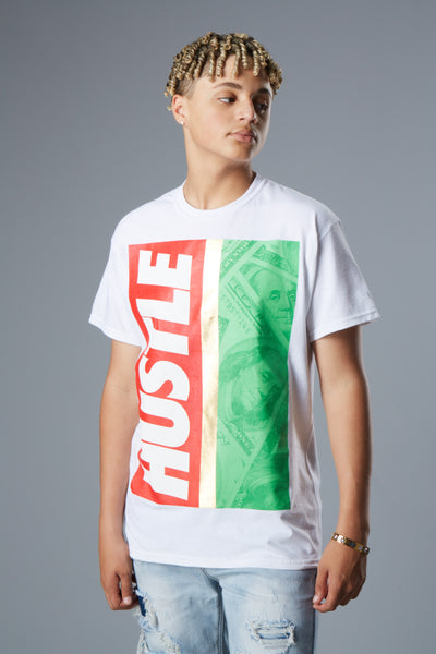 Hustle Money Gold Foil Short Sleeve Tee