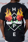Hype Flame Roses Short Sleeve Tee