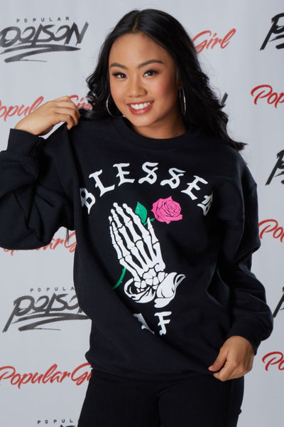 Blessed Prayer Long Sleeve Fleece