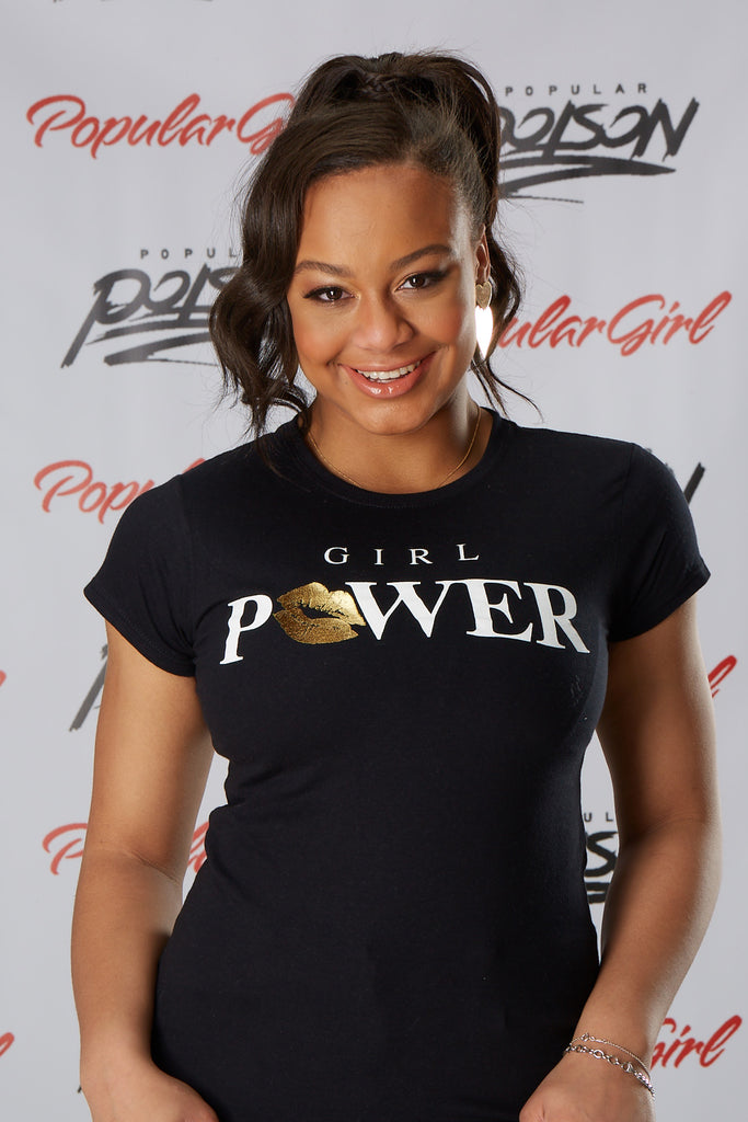 Girl Power Foil Lips Short Sleeve Tee