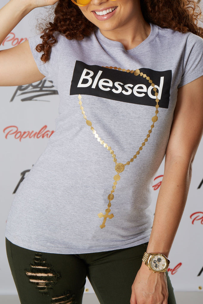 Blessed Box Chain Short Sleeve Tee