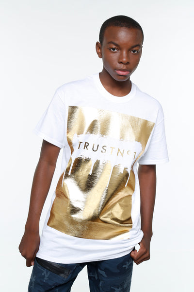 Trust no1 Dripping Foil Short Sleeve Tee