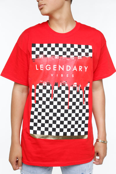 Checkered Legendary Vibes Short Sleeve Tee