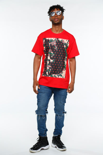 Camo Dots California Bear Short Sleeve Tee