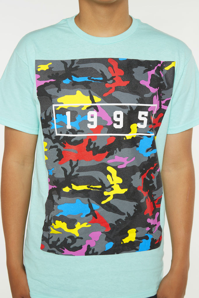1995 Colorful Camo Short Sleeve Tee