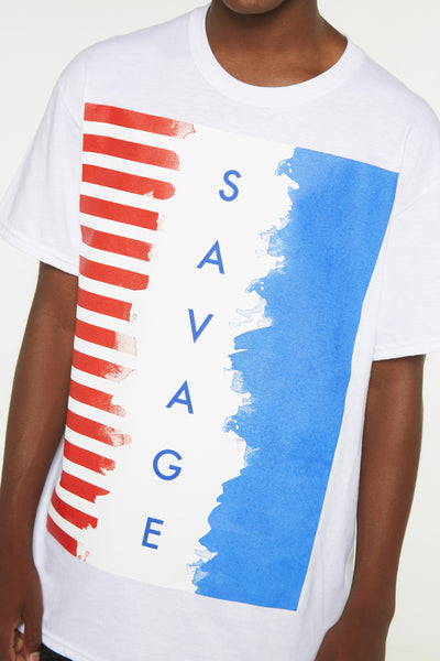 Savage American Flag Short Sleeve Tee