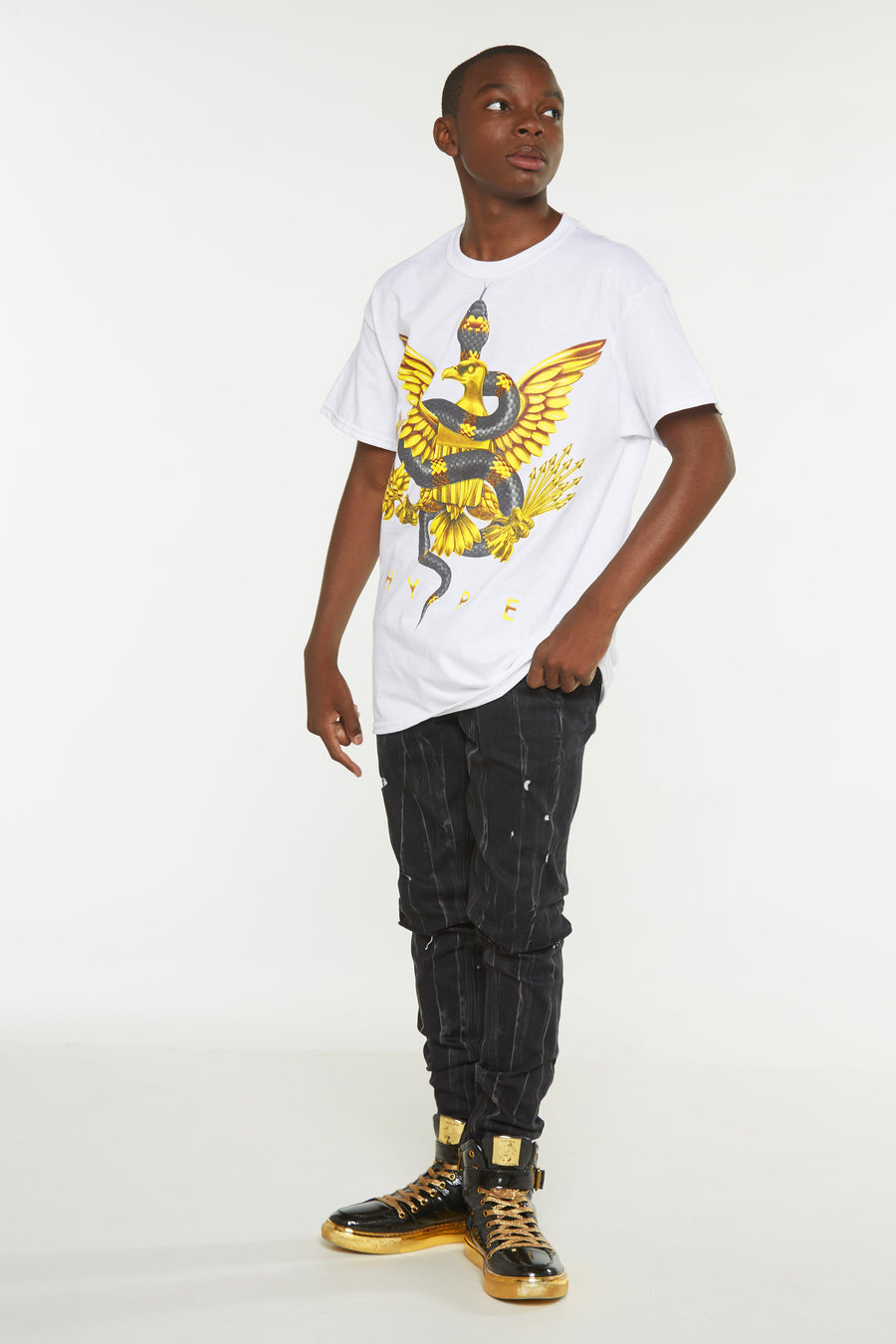 Hype Gold Snake Short Sleeve Tee