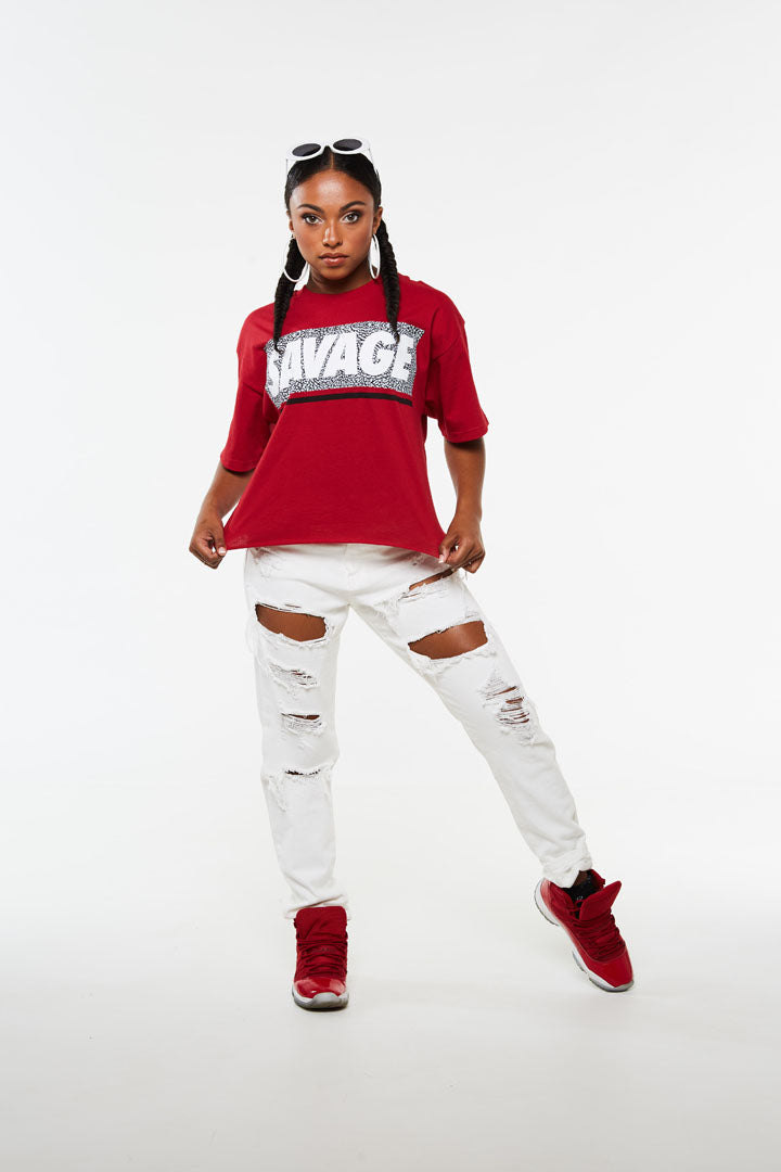Savage Crackle Crop Tee
