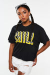 Chill Checkered Crop Tee