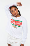 Expensive Habits Crop Long Sleeve