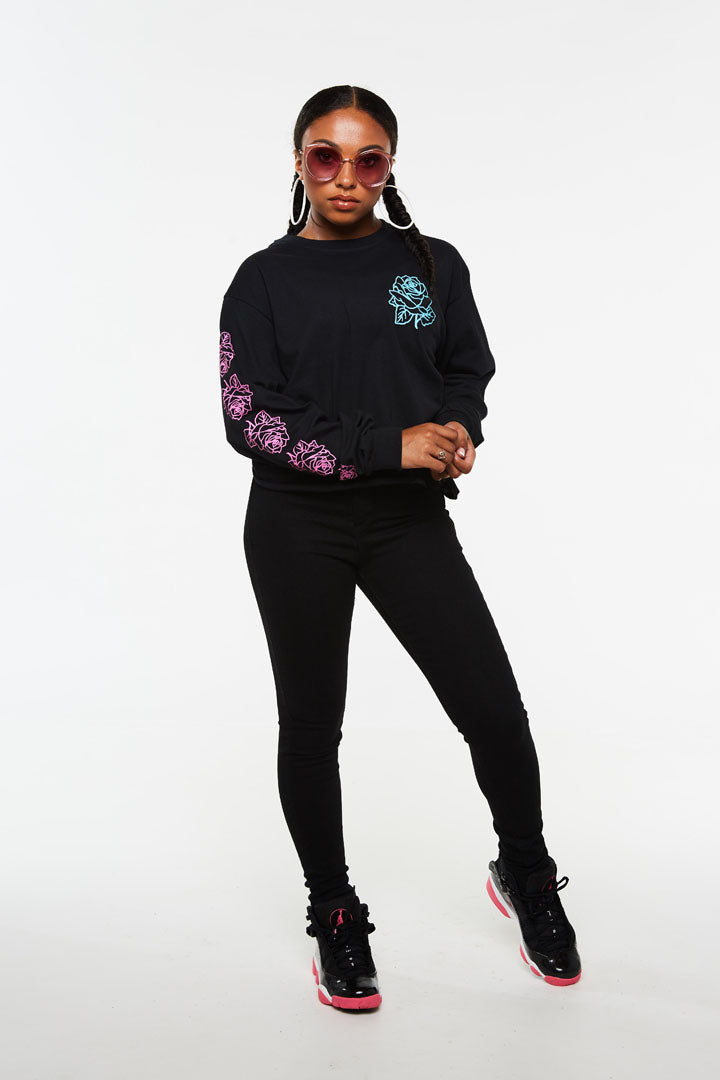 Rose Crop Long Sleeve