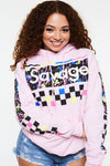 Savage Checker Splatter Paint Hoodie