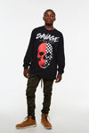 Savage Lifestyle Checker Skull Long Sleeve