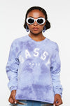 Sassy Tie Dye Crop Long Sleeve
