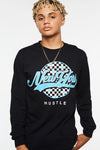 New York Hustle Checker Long Sleeve