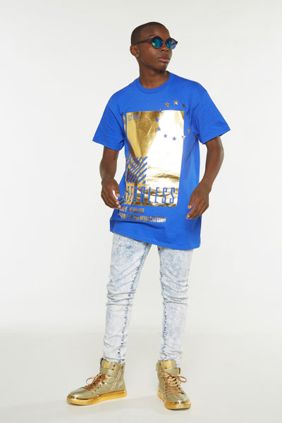 Hustler Gold foil Short Sleeve Tee