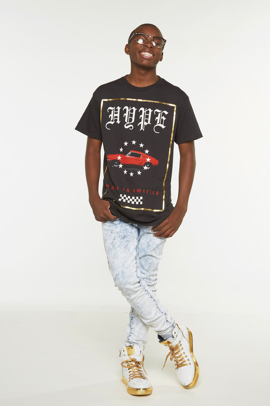 Gothic Hype Red Car Short Sleeve Tee