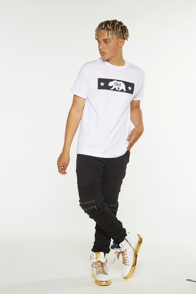 Cali Bear Box Short Sleeve Tee