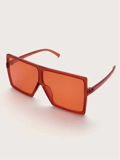 Flat Top Shield Acrylic Frame Sunglasses
