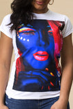 Blacklight babe Short Sleeve Tee