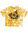 Sunflower Tie dye Crop Tee (4575565185109)