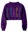 Rainbow Snack Crop Crew Fleece