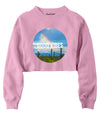 Good Vibes Rainbow Crop Crew Fleece