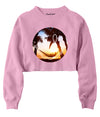 Beach Smiley Crop Crew Fleece