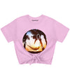Beach Smiley Tie Front Tee