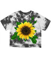 Sunflower Tie dye Crop Tee (4574121754709)
